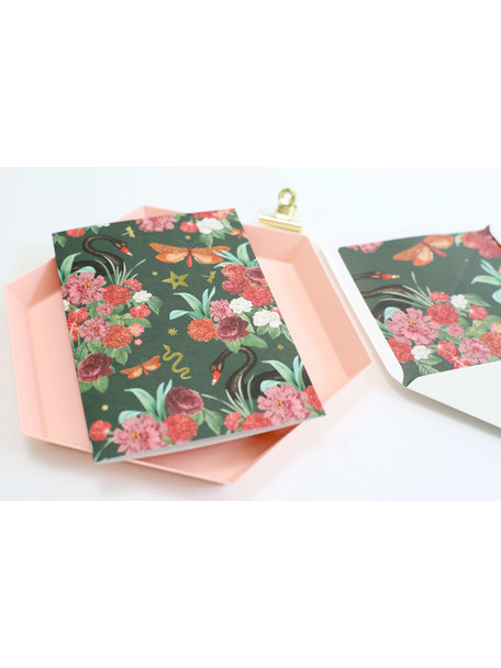 Wild roses Greeting Card - With Love - per 6