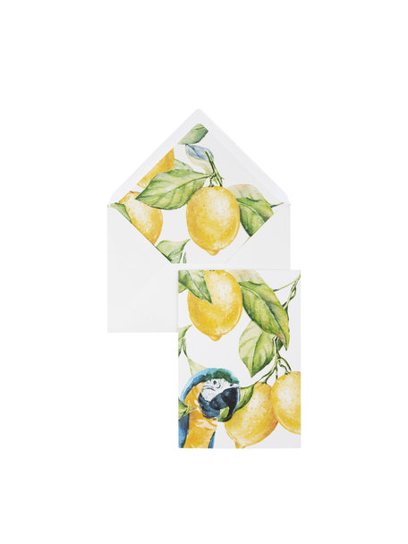 Yellow Lemon Tree Greeting Card - per 6