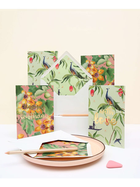 Creative Lab Amsterdam Fig Tree Greeting Card - Happy Birthday - per 6