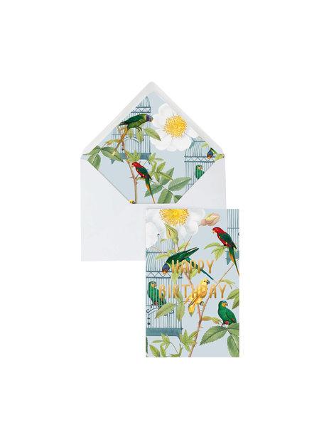 Creative Lab Amsterdam Bird Cage Greeting Card - Happy Birthday - per 6