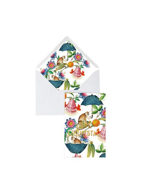 Creative Lab Amsterdam Mister Nilson Greeting Card - Geburtstag - per 6
