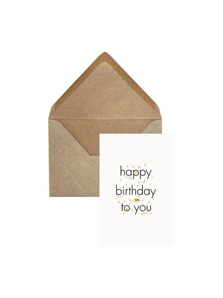 Creative Lab Amsterdam Elephant Grass Greeting Card - Happy Birthday to you - per 6