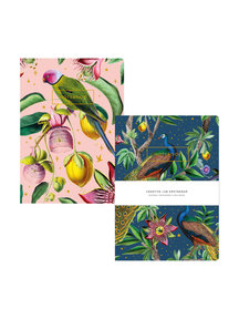 Creative Lab Amsterdam Passion Peacock/Botanical Garden notebook set - per 6