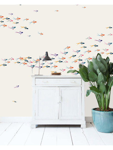 Creative Lab Amsterdam School Fish Wallpaper