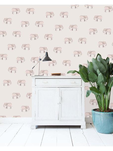 Safari Elephants Wallpaper