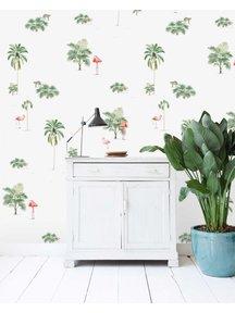Flamingo & Tiger Wallpaper