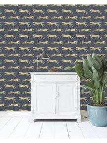 Leopard Blue Wallpaper