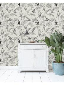 Leopard Wallpaper Grey
