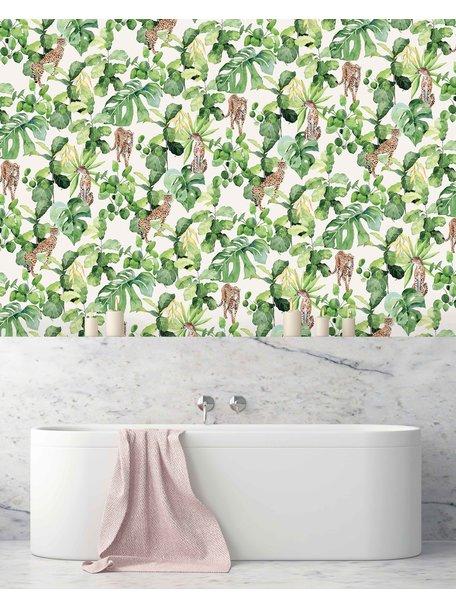 Creative Lab Amsterdam Cheetah Party Bathroom Wallpaper