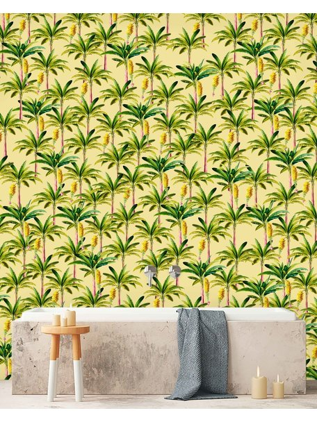 Creative Lab Amsterdam Golden Banana Bathroom Wallpaper Yellow