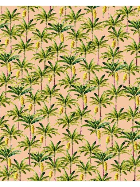 Creative Lab Amsterdam Golden Banana Bathroom Wallpaper Pink