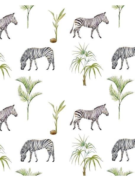 Creative Lab Amsterdam Zebra Palm bathroom Wallpaper