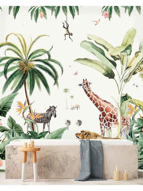 Creative Lab Amsterdam Sanny & Charlie Bathroom Wallpaper setting
