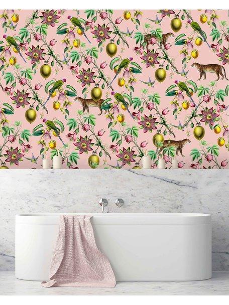 Creative Lab Amsterdam Botanical Garden Pink Bathroom Wallpaper