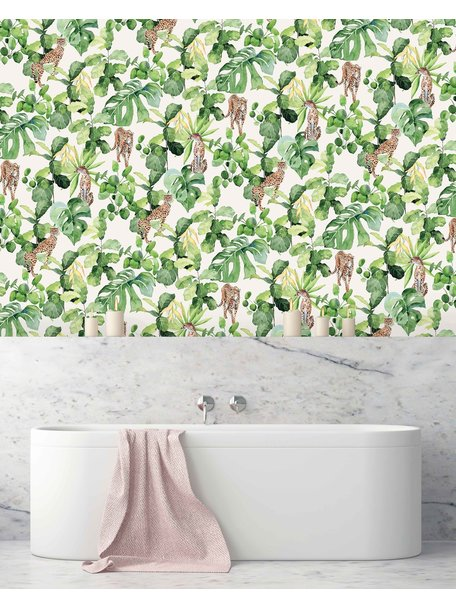 Creative Lab Amsterdam Cheetah Party Bathroom Wallpaper