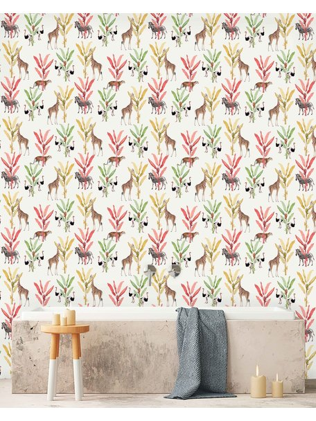 Creative Lab Amsterdam Color Palm Bathroom Wallpaper