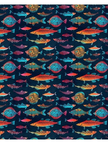 Creative Lab Amsterdam Night Fishes Bathroom Wallpaper