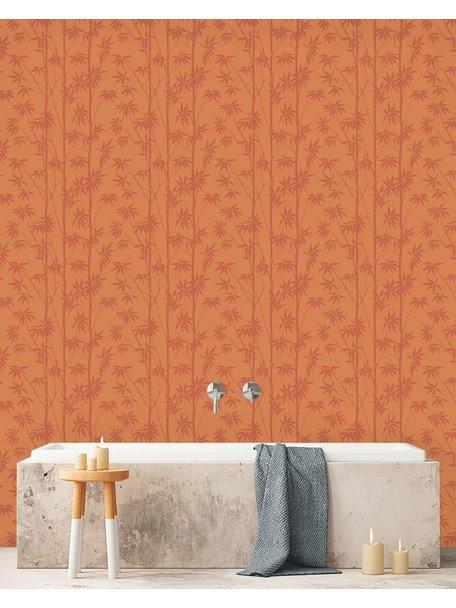 Creative Lab Amsterdam Bamboo Bathroom Wallpaper Stone