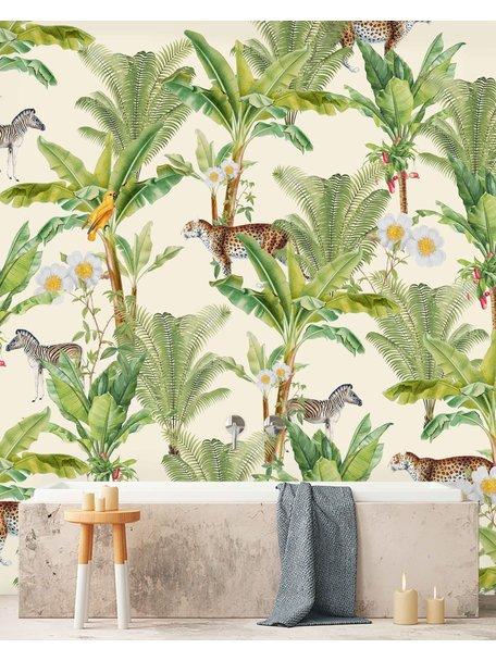 Creative Lab Amsterdam Flower Garden Bathroom Wallpaper