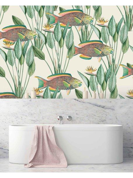 Creative Lab Amsterdam Parrot Fish Bathroom Wallpaper