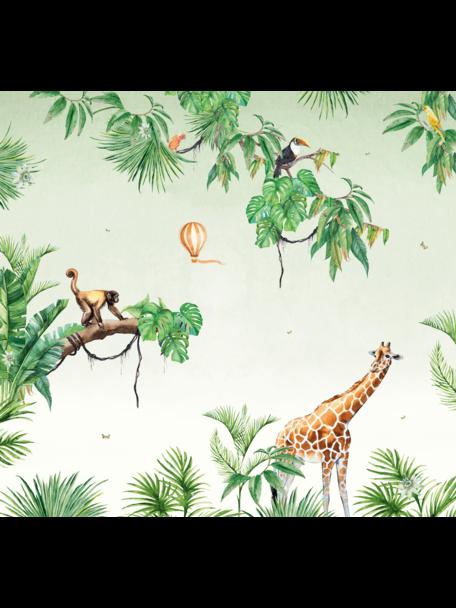 Creative Lab Amsterdam Monkey Jungle Bathroom Wallpaper setting