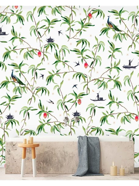 Creative Lab Amsterdam Chinese Riverside Bathroom Wallpaper