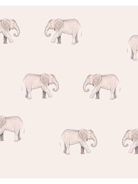 Creative Lab Amsterdam Safari Elephants Bathroom Wallpaper