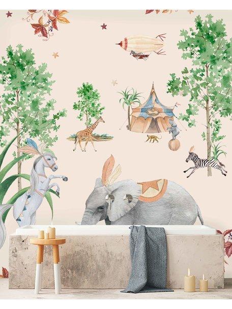 Creative Lab Amsterdam Elephant Bathroom Wallpaper Setting
