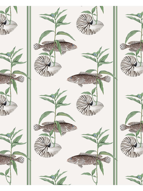 Creative Lab Amsterdam Fish & Shell Bathroom Wallpaper