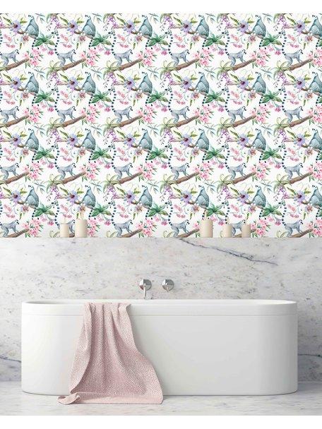 Ringtail Star Bathroom Wallpaper