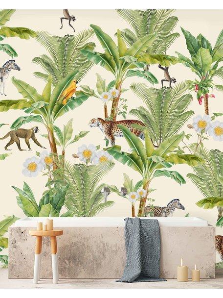 Creative Lab Amsterdam Chantal Bles - Flower Garden Bathroom Wallpaper