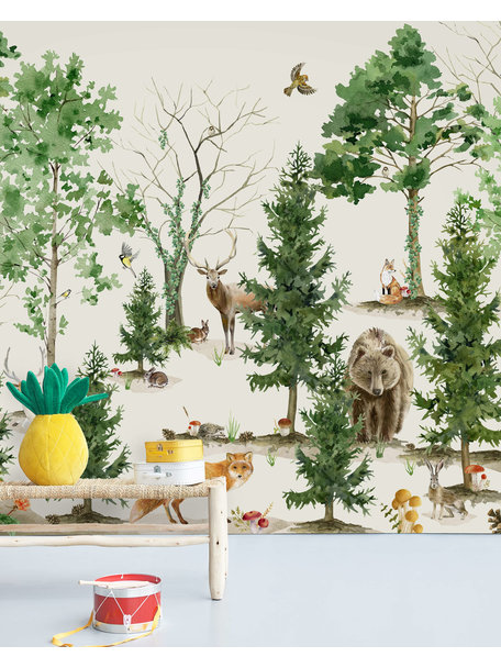 Creative Lab Amsterdam Forest Life Wallpaper