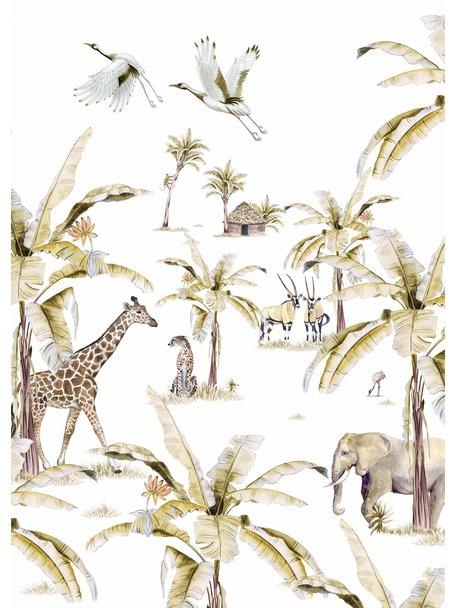 Creative Lab Amsterdam African Safari Sunset Wallpaper