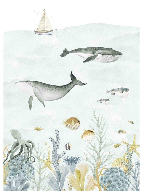 Creative Lab Amsterdam Sealife Blue Wallpaper