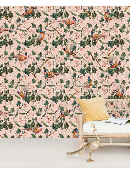 Floral Pheasant Wallpaper