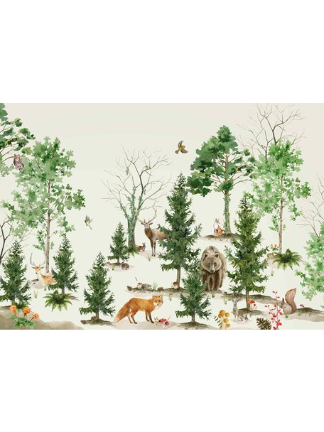 Creative Lab Amsterdam Forest Life Wallpaper Mural
