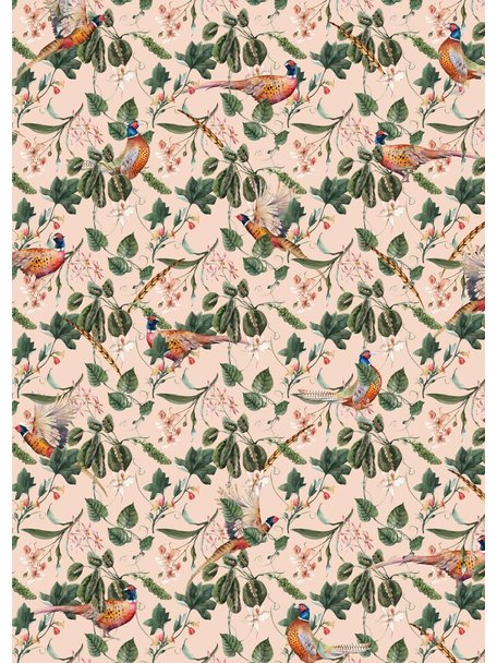 Creative Lab Amsterdam Floral Pheasant Bathroom Wallpaper