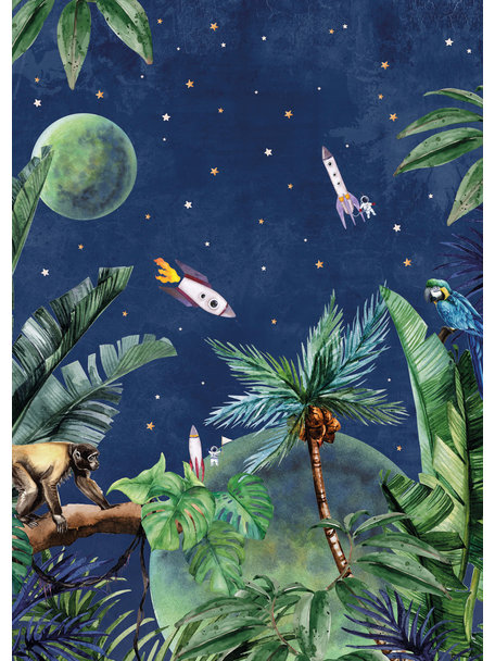 Creative Lab Amsterdam From Jungle to Space Bathroom Wallpaper