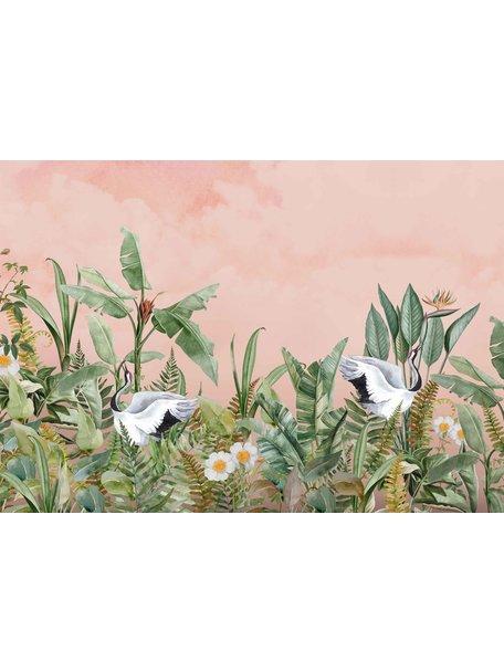 Creative Lab Amsterdam Dancing Crane Birds Mural