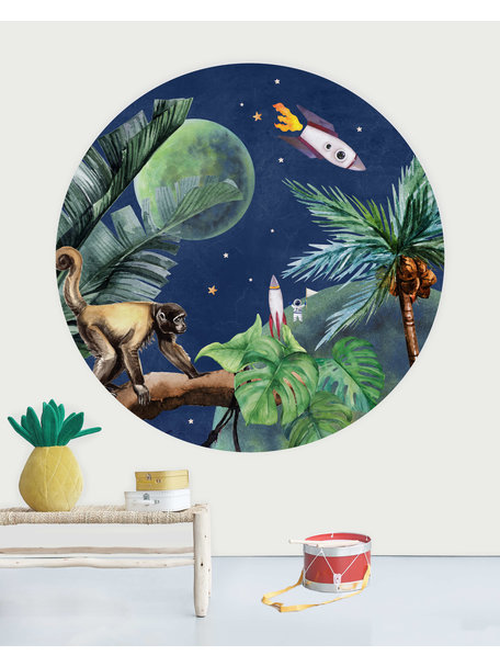 Creative Lab Amsterdam From Jungle to Space Wallpaper Circle