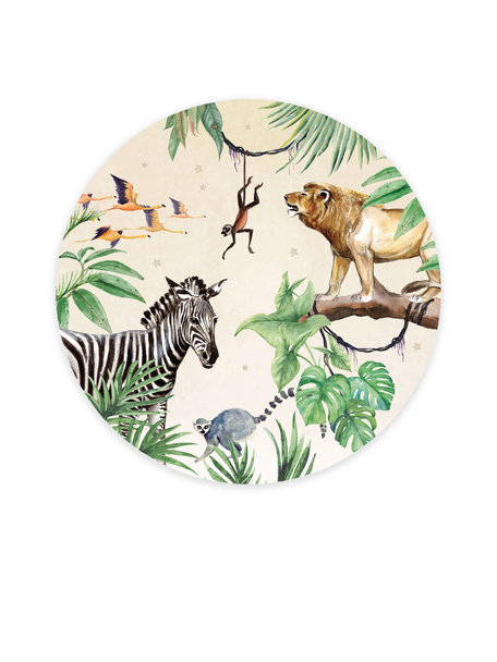 Creative Lab Amsterdam King of the Jungle Wallpaper Circle