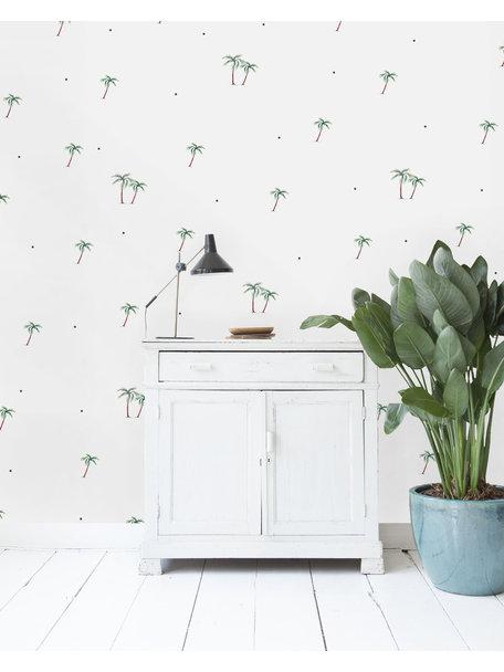 Palms & Dots Wallpaper