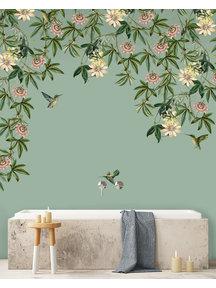 Creative Lab Amsterdam Passionate Colibri Bathroom Wallpaper