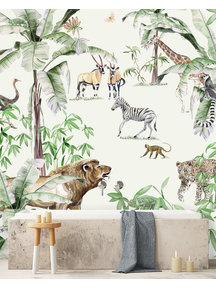 Creative Lab Amsterdam Just Another day in the Jungle Bathroom Wallpaper