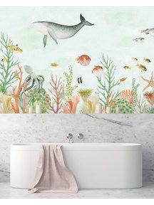 Creative Lab Amsterdam Sealife Coral Bathroom Wallpaper
