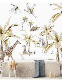Creative Lab Amsterdam African Safari Sunset Bathroom Wallpaper