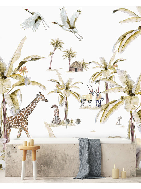 Creative Lab Amsterdam African Safari Sunset Bathroom Wallpaper