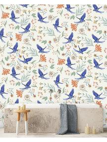 Creative Lab Amsterdam Paisley Parrot Bathroom Wallpaper