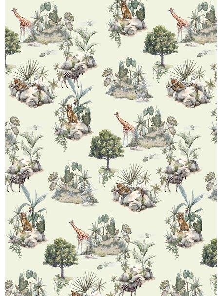 Creative Lab Amsterdam Safari Rocks Bathroom Wallpaper