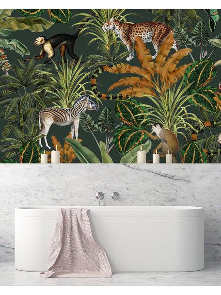 Oh La Lot - Mighty Bathroom Wallpaper